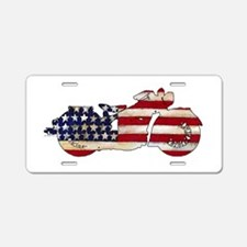 Flag-painted motorcycle-1 Aluminum License Plate