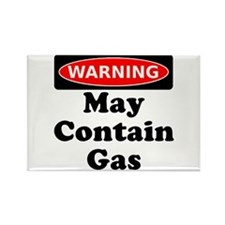 Warning May Contain Gas Rectangle Magnet