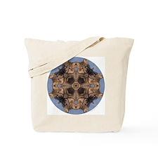 Cross Fox Mandala Tote Bag