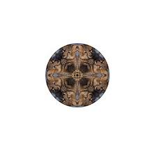 Cross Fox Mandala Mini Button