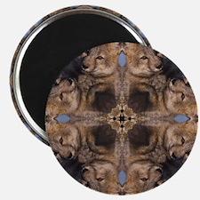 Cross Fox Mandala Magnet