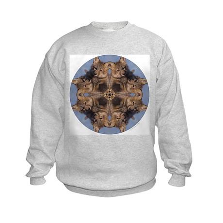 Cross Fox Mandala Kids Sweatshirt