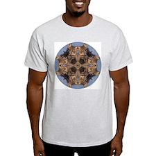 Cross Fox Mandala Ash Grey T-Shirt