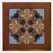 Cross Fox Mandala Framed Tile