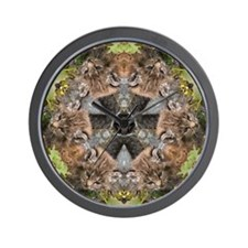 Bobcat Mandala Wall Clock