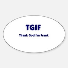TGIF2 Oval Decal