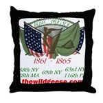 Irish Brigade Flags Throw Pillow