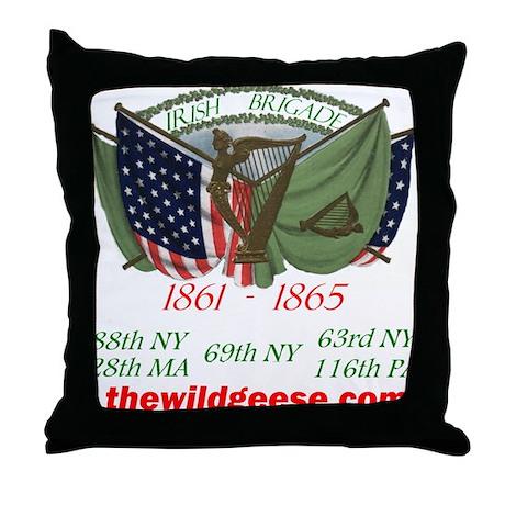 Irish Brigade Flags Throw Pillow
