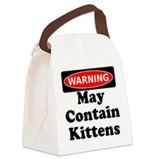 Warning May Contain Kittens Canvas Lunch Bag