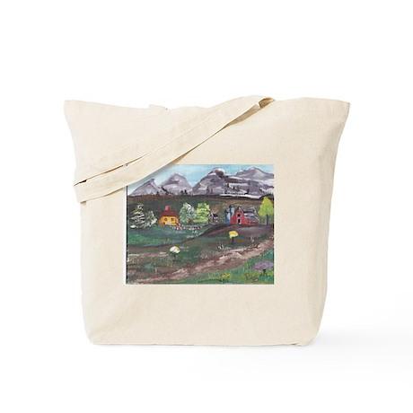 Mountain farm Tote Bag