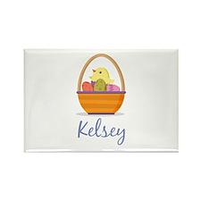 Easter Basket Kelsey Rectangle Magnet