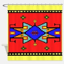 Lakota Dreams Blanket Design Shower Curtain