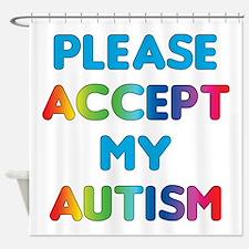 Accept Autism Shower Curtain