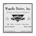 Wapello Dairy ad Tile Coaster