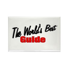 """The World's Best Guide"" Rectangle Magnet"