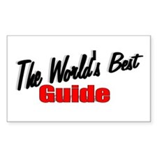 """The World's Best Guide"" Rectangle Decal"