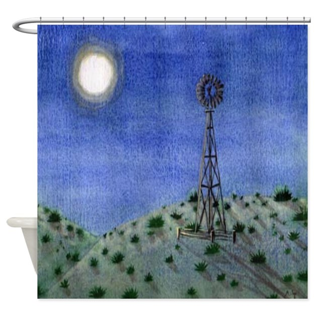 Oklahoma Windmill Shower Curtain By Yvonnecarter