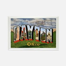 Dayton Ohio Greetings Rectangle Magnet
