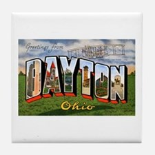 Dayton Ohio Greetings Tile Coaster