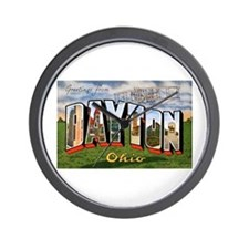 Dayton Ohio Greetings Wall Clock