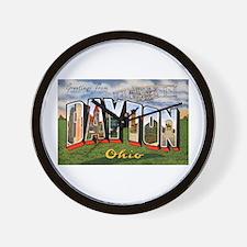Dayton Ohio Greetings Wall Clock