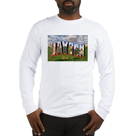 Dayton Ohio Greetings (Front) Long Sleeve T-Shirt