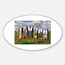 Dayton Ohio Greetings Oval Decal