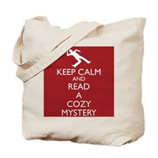 Cozy Mystery Book Review Tote Bag-Red