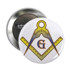 The Master Masons Square and Compasses Button