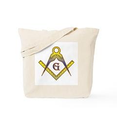 The Master Masons Square and Compasses Tote Bag