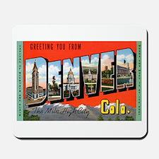 Denver Colorado Greetings Mousepad