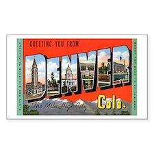 Denver Colorado Greetings Rectangle Decal
