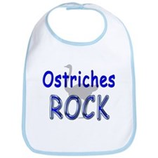 Ostriches Rock Bib