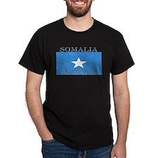 Somalia Somali Flag Black T-Shirt
