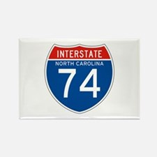 Interstate 74 - NC Rectangle Magnet