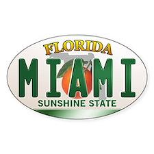 """MIAMI"" Florida License Plate Decal"