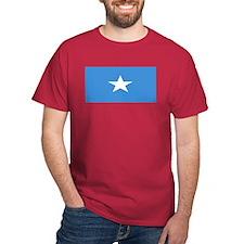 Somalia Somali Blank Flag Red T-Shirt