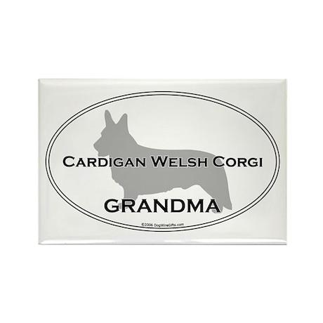 Ca. Welsh Corgi GRANDMA Rectangle Magnet