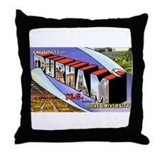 Durham North Carolina Throw Pillow