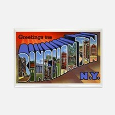 Binghamton New York Greetings Rectangle Magnet