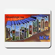 Binghamton New York Greetings Mousepad