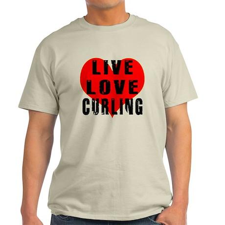 Live Love Curling Light T-Shirt