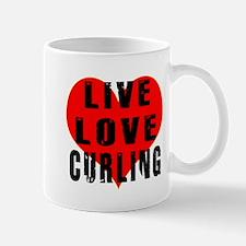 Live Love Curling Mug