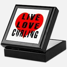 Live Love Curling Keepsake Box