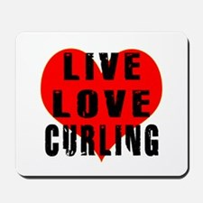 Live Love Curling Mousepad