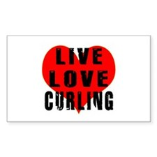 Live Love Curling Decal
