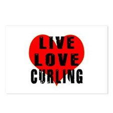 Live Love Curling Postcards (Package of 8)