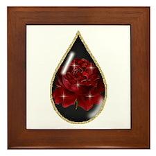 Rose Teardrop Framed Tile