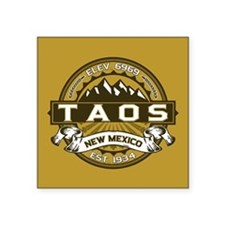 "Taos Gold Square Sticker 3"" x 3"""