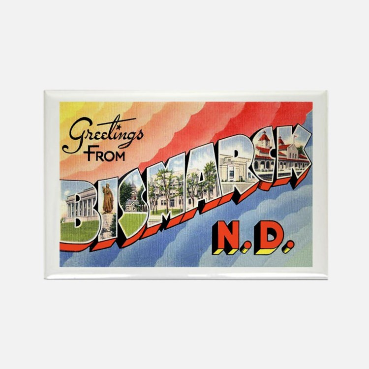 Bismarck North Dakota Greetings Rectangle Magnet